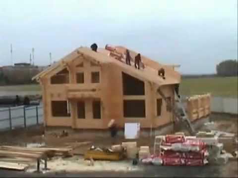 Клееной брус и строительство деревянного дома!