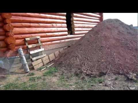 Дом из сруба, шлифовка стен.
